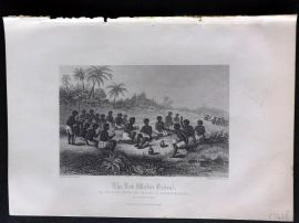 Gardner 1860 Antique Print. The Red Water Ordeal, Northern Guinea, Africa